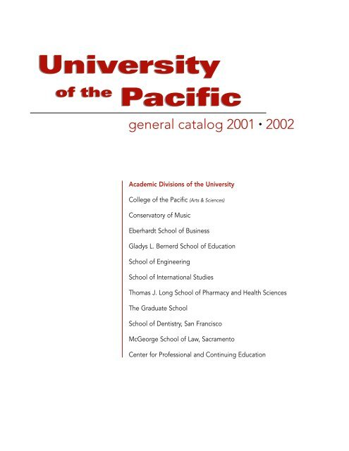 University Pacific University Pacific - University of the