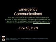 Emergency Communications - Pacific County Economic ...
