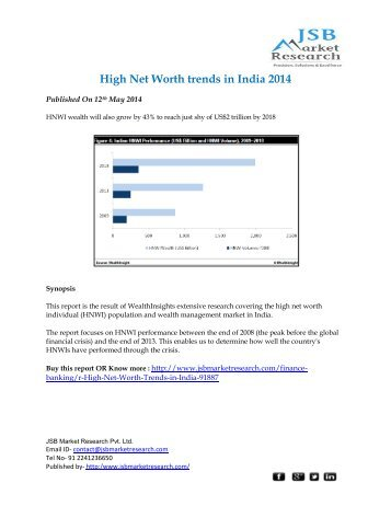 JSB Market Research - High Net Worth trends in India