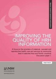 improving the quality of hrh information - HRH Knowledge Hub ...