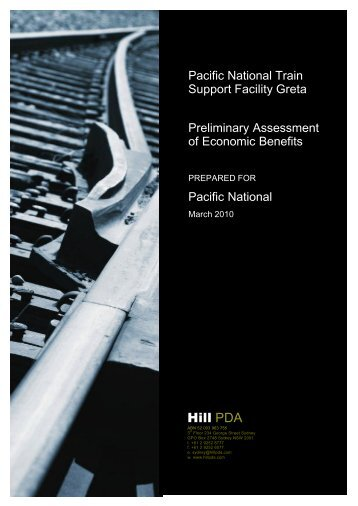 Appendix M - Economic Assessment - Pacific National