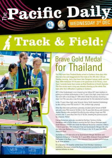 2008 Pacific Daily Newsletter - Issue 3 - Pacific School Games