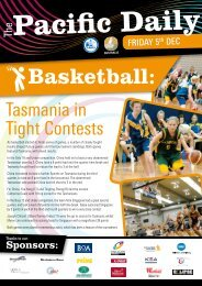 2008 Pacific School Games Newsletter - Issue 4