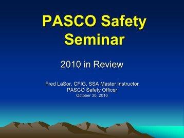 PASCO Safety Seminar