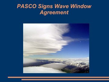 Wave Window Update - Fred LaSor - PASCO 2008 - Pacific Soaring ...
