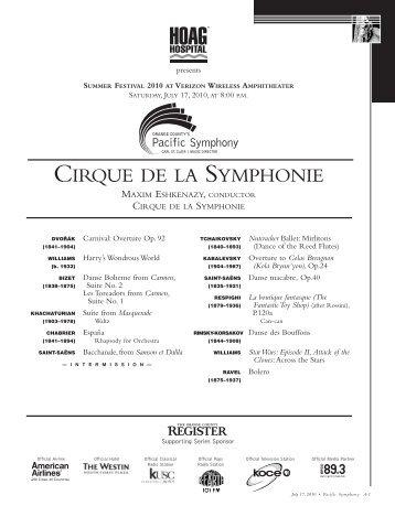 Summer Festival 2 - Cirque de la Symphonie - Pacific Symphony