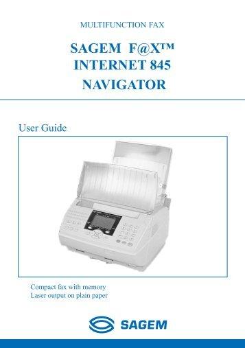 SAGEM F@X™ INTERNET 845 NAVIGATOR - Fax-Anleitung.de