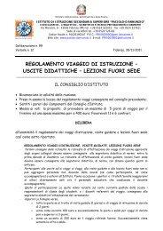 regolamento viaggio di istruzione – uscite didattiche - Paciolo-D ...
