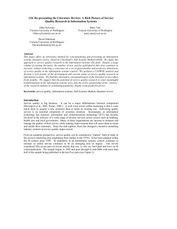 116. Re-presenting the Literature Review: A Rich Picture of ... - pacis
