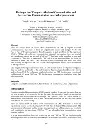 The impacts of Computer-Mediated Communication and ... - pacis