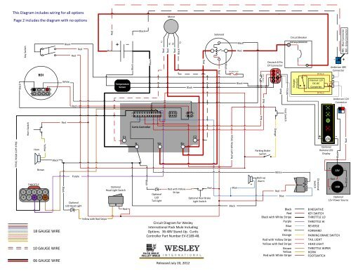 Wiring Diagram for 36-48v Stand Up Models with Curtis ControllerYumpu