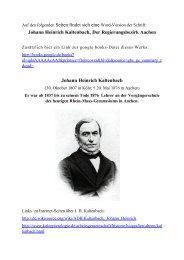 J. H. Kaltenbach, Der Regierungsbezirk Aachen - Eilendorfer ...