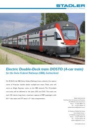 Electric Double-Deck train DOSTO (4-car train)
