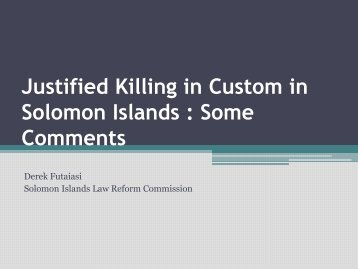 Derek Futaiasi, Law Reform Commission, Solomon Islands ... - PacLII