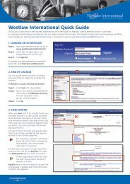 Westlaw International Quick Guide - PacLII