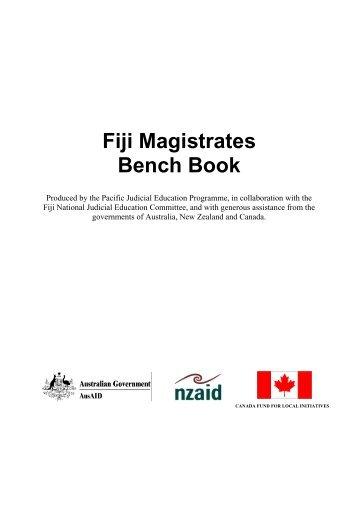 Fiji Magistrates Bench Book - Federal Court of Australia