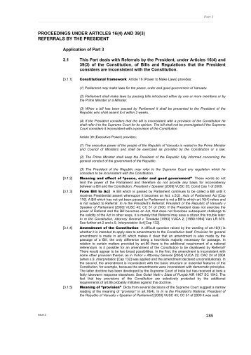 Part 3 Proceedings under articles 16(4) - PacLII