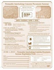 Permeable Interlocking Concrete Pavements Seminar