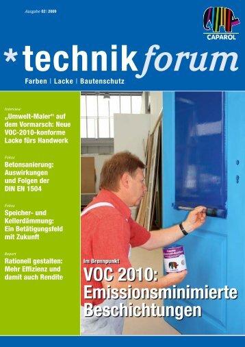 VOC 2010: Emissionsminimierte Beschichtungen VOC 2010 ...