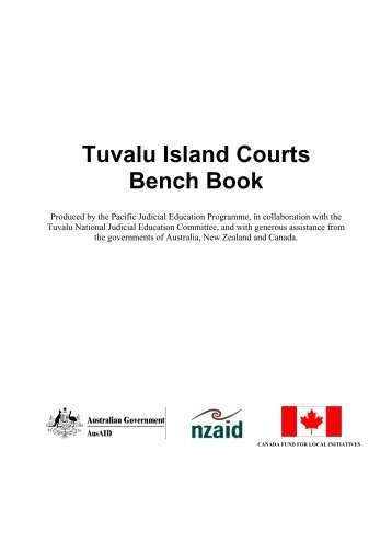 Tuvalu Island Courts Bench Book - Federal Court of Australia