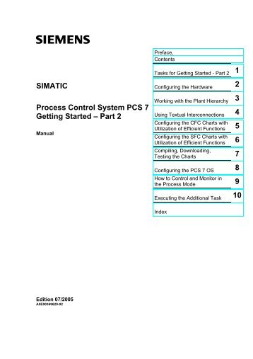 SIMATIC Process Control System PCS 7 Getting Started – Part 2
