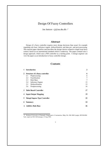 control fuzzy process thesis Fuzzy logic controller for controlling dc motor speed using matlab applications nur azliza ali this thesis is part fulfillment of the requirement for a bachelor.