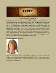 Custom leather products Custom Leather Sewing