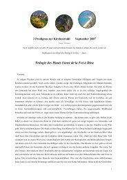 Trilogie des Hauts Lieux de la Foi à Dieu - Evki Hilzingen