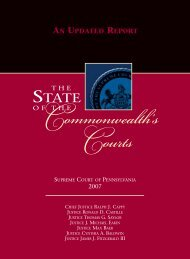 Commonwealth's Courts - Pennsylvania's Unified Judicial System