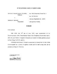 OFFICE OF DISCIPLINARY COUNSEL, Petitioner DENNIS P ...