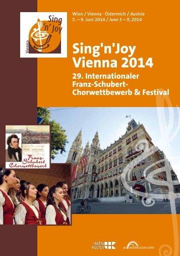 Sing'n'Joy Vienna 2014 - Program Book