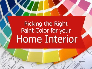 House painting Colorado- Picking the paint color for house interior