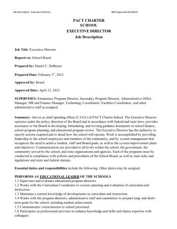 Executive Director Job Description Definitions A  Masters Swimming