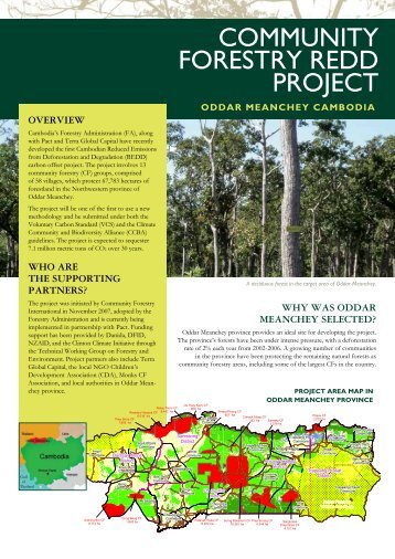 COMMUNITY FORESTRY REDD PROJECT - Pact Cambodia