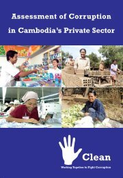 Assessment of Corruption in Cambodia's Private ... - Pact Cambodia