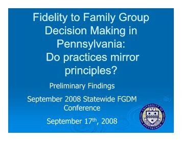 Full PowerPoint - Pennsylvania Child Welfare Resource Center