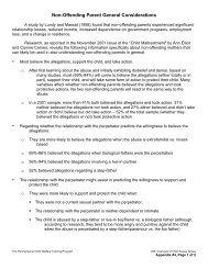 Non-Offending Parent General Considerations - Pennsylvania Child ...