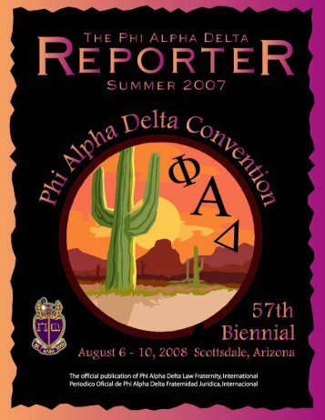 Summer 2007 Reporter - Phi Alpha Delta