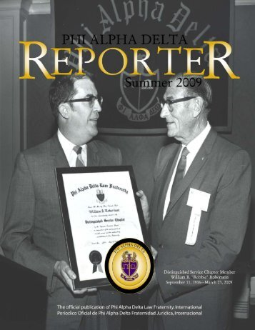 """THE REPORTER"" – PAGE 1 - Phi Alpha Delta"