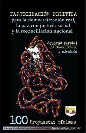 100 propuestas de las FARC-EP sobre la Participación Politica de la Oposición en Colombia