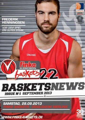 1. Spieltag: finke baskets - Crailsheim Merlins