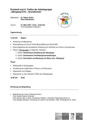 Übergang KiTa – Grundschule - Stadt Paderborn