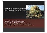Vortrag Prof. Dr. Reicher - Stadt Paderborn