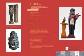 Flyer der Ausstellung Kuriosa - Stadt Paderborn