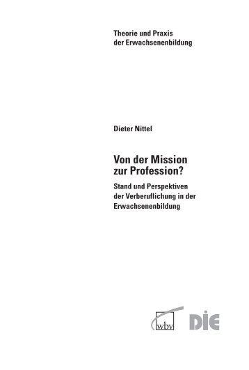 Von der Mission zur Profession? - Deutsches Institut für ...