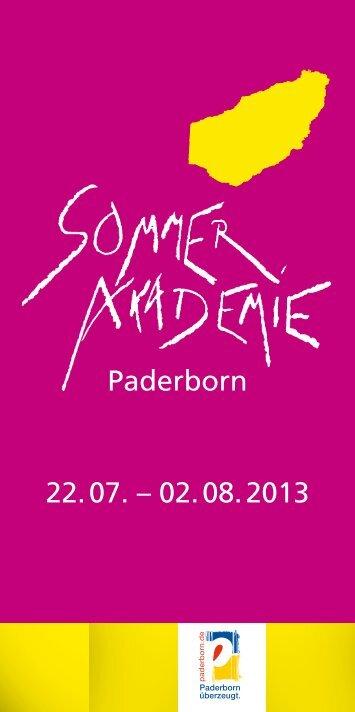 Sommerakademie Paderborn 2013 - Stadt Paderborn