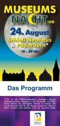 Infos zur Museumsnacht 2013 als PDF - Stadt Paderborn
