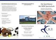 Flyer Sportklasse Lise-Meitner Realschule - Stadt Paderborn