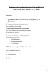 Einbringung des Haushaltsplanentwurfs für das Jahr 2014 in den ...