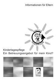 Informationen für Eltern Kindertagespflege Ein ... - Stadt Paderborn